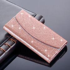 Luxe Bling Glitter Paillettes Portefeuille Housse Flip Magnétique pour Samsung