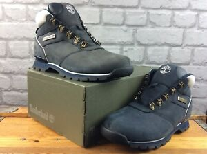 TIMBERLAND MENS UK 8.5 EU 43 SPLITROCK 2 HIKER NAVY WHITE BOOTS RRP £130 C