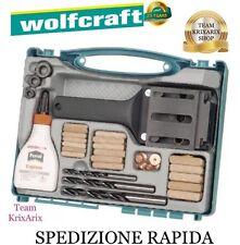 Wolfcraft 4645000 Set tasselli in valigetta Kit Guida Spinatura Giunzioni Legno