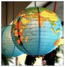Vintage Style Globe of World 2 Paper Lampshade/Lantern
