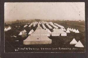 MILITARY/REGIMENTAL CAMPS. Yorkshire & Durham Brigade Camp at Richmond 1909. RP.