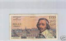 FRANCS 1000 FRANCS RICHELIEU 5.1.1956 ALPHABET Y.231 !!!!!