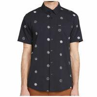 Volcom Mens Shirt Blue Size 2XL Button Down Modern Fit Op Dot Print $55 #201