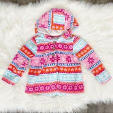 Carter's Baby Girl 18 M Fleece Snowflake Hoodie Pink