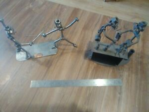 Nut and bolt metal figurines