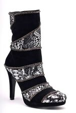 Peraseo Chain Wrapped Pyrhon print & Suede Leather Ankle Boot
