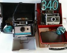 2 Polaroid Camera 210 Automatic - 340 Land w Hard Case Manual Flash Lot
