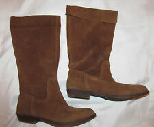 NINE WEST FROLLIC VINTAGE AMERICA COLLECTION cognac suede pull on boho boots 6 M