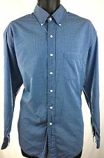 BROOKS BROTHERS Est.1818 Mens Size L Button Down Dress Shirt Blue Gingham
