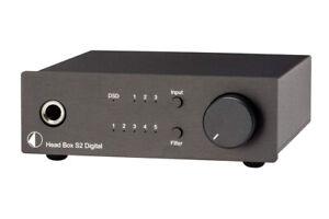 PRO JECT HEAD BOX S2 DIGITAL BLACK AMPLIFICATORE PER CUFFIE DSD DAC G.UFFICIALE