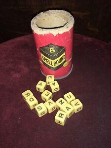 VINTAGE 1950's Dice SPELLBOUND DICE GAME  DICE & SHAKER