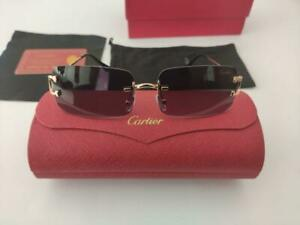 Cartier BLACK FRAMELESS SUNGLASSES