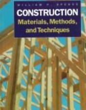 Hardcover Book Construction Materials Methods and Techniques by William P Spence