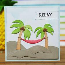 Palm Trees Dies Beach Holiday Metal Cutting Dies Scrapbooking Card Making DIY