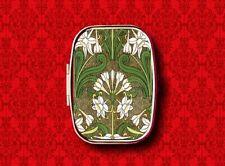 ART NOUVEAU JONQUIL FLOWERS FLORAL VINTAGE MUCHA STASH METAL PILL MINT BOX CASE