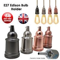 Vintage Industrial Lamp Light Bulb Holder Antique Retro Edison ES E27 Fitting