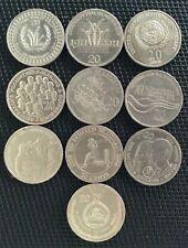 Australian 20 cent commemorative coin set - 10 coins - circulated