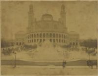 France, Paris, Palais de Trocadéro  Vintage albumen print Tirage albuminé  2