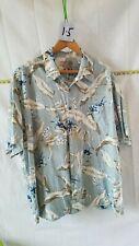 Vintage Men's Hawaiian Caribbean 2X 70% Silk 30% Cotton Button Down Shirt