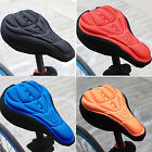 Road Bike Bicycle Cycling Silicone Saddle Seat Cover 3D Gel Cushion Comfort Pad