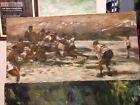 Original Acrylic Rugby Painting - Snow Cap