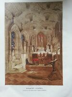 ANTIQUE PRINT C1860 WESTMINSTER ABBEY HENRY THE SEVENTH'S CHAPEL LITHOGRAPH ART
