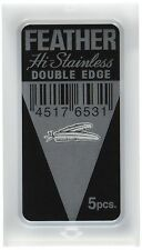 Feather Hi-Stainless Platinum Double Edge Blades 1 Pack = 5 Blades-R