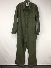 Used Army Military Green Mechanic Flyers Coveralls sz XL SP0100 Lajas Industries