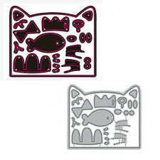 Fish Cat Face Metal Cutting Dies Stencil Scrapbooking Paper Card Embossing Craft