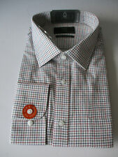 M&S MENS MULTICOLORED CHECK LONG SLEEVE SHIRT PURE COTTON TWILL REGULAR FIT BNIP