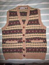 VTG Classic Direction Women's Fair Isle Wool Geek Nerd Sweater Vest LRG Cardigan