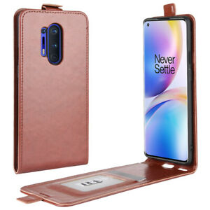 """For OnePlus 8 Pro 6.78"""" Case Magnetic Vertical UP Down Flip PU Leather Cover"""