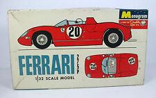 Monogram 1:32 Scale Model FERRARI 275P, Vintage plastic kit, Boxed, Incomplete