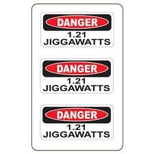 "Danger 1.21 Jiggawatts (3 Pack)HardHat Sticker (size: 2"" x 1"") Printed Sticker"