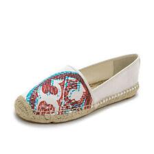 TORY BURCH  Ivory 3D Logo Espadrille shoes  Flats 10