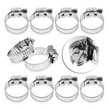 """1/2""""-3/4"""" Adjustable Stainless Steel Drive Hose Clamps Fuel Line Worm Clip Kit"""