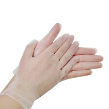 5/10PCS Disposable Clear PVC Powder Latex Glove Cleaning Kitchen Food Protective