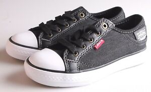 NEW Levi's Kids Boys Girls Stan Buck C Black Denim Sneakers Gym Shoes NIB