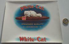 WHOLESALE 12  EXCELLENT ANTIQUE  WHITE PERSIAN CAT  LARGE CIGAR BOX  LABELS