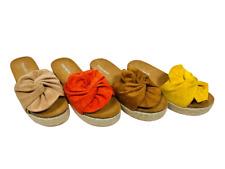Scarpe donna zatteroni flatform fiocco ciabatte sandali zeppa para estate moda