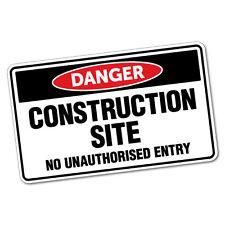 Danger Construction Site Sticker Decal Safety Sign Car Vinyl #6410ST