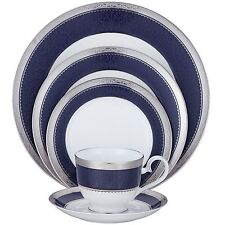 Noritake Odessa Cobalt Platinum 60Pc China Set, Service for 12