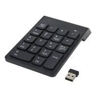 Numeric Keypad,18 Keys Wireless USB Number Pad Keyboard With 2.4G Mini USB