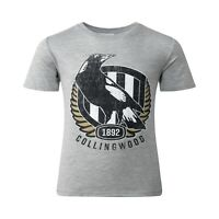 AFL Collingwood Magpies Retro T-Shirt -  TODDLER / KIDS - Sizes 2 - 6 years