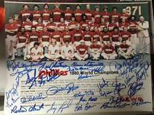 1980 Phillies World Series Team Photo 11 x 14 signed by 30 players All Possible