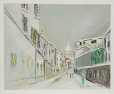 Maurice Utrillo, European Street, Screenprint Poster