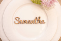 Script Style Personalised Wedding Party Table Place Name Favour Laser Cut MDF
