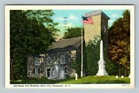 Schoharie NY, Old Stone Fort Museum, Linen New York c1952 Postcard