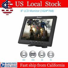 "8"" Portable Digital HD TFT LCD Monitor VGA BNC Video Audio DVR HDMI Input B01"