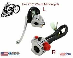 "7/8"" (22mm) Turn Signal Low~High Beam Handlebar Gear Clutch Lever Controller Sw"
